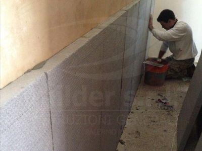 Realizzazione isolamento termico per pareti interne in appartamento