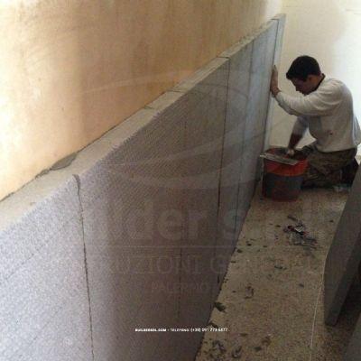 Realizzazione isolamento termico per pareti interne in for Rivestimento pareti interne in polistirolo