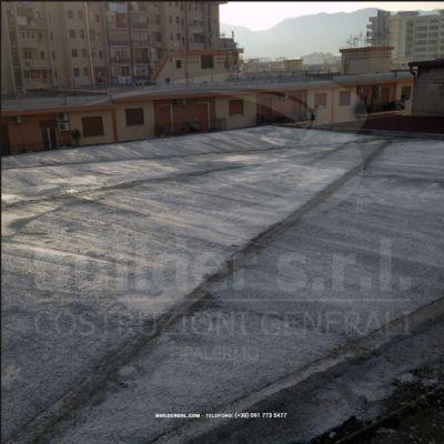 Stato iniziale del lastrico solare. - Condominio Via Ferdinando Di Giorgi, n. 20 a Palermo