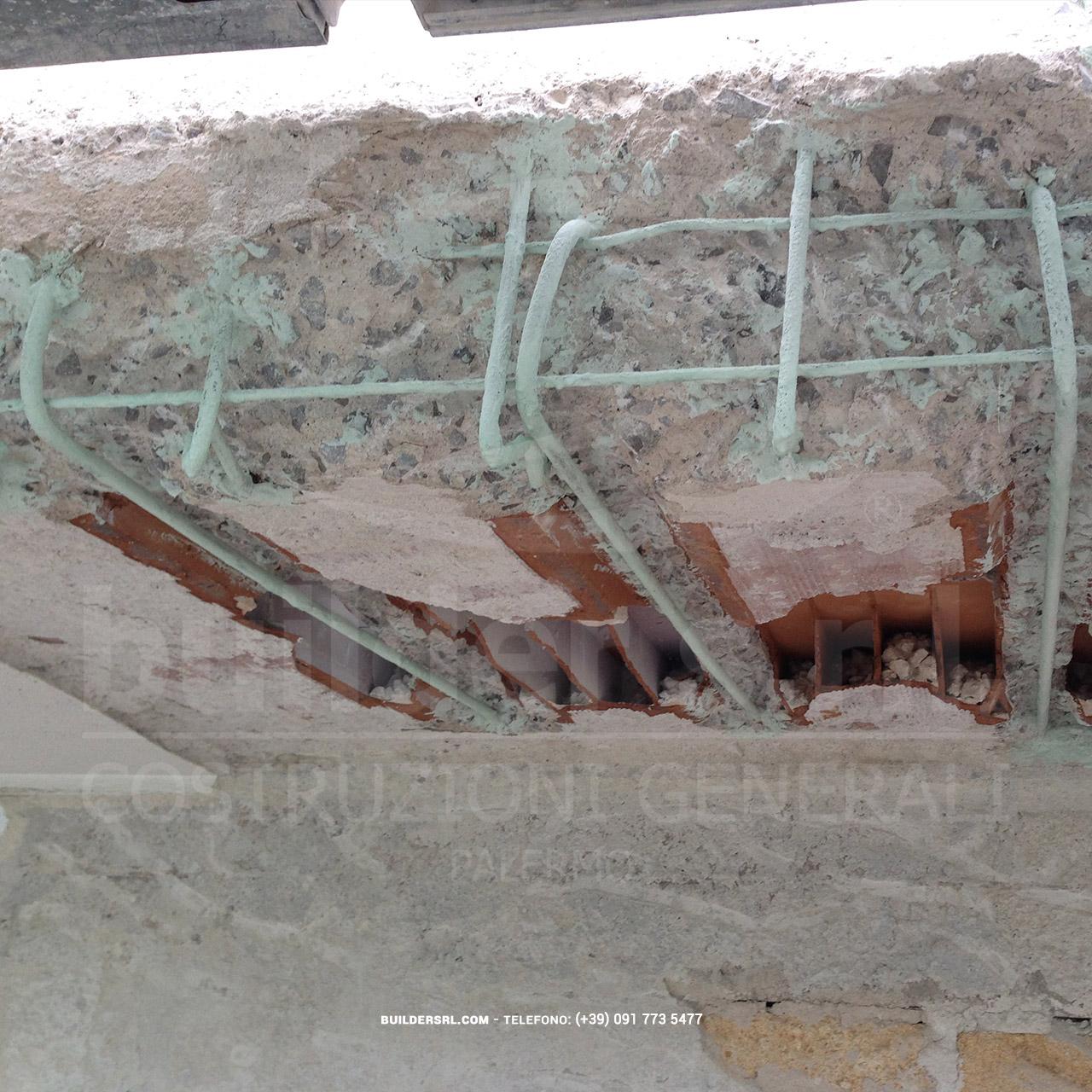 Trattamento dei ferri di armatura ossidati a Palermo - con Mapefer della Mapei